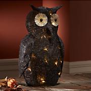 lighted black owl