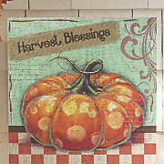 harvest blessings canvas
