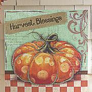 harvest blessings canvas