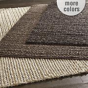 felted wool braided rug