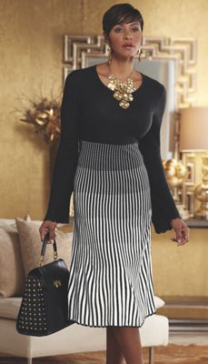 Angel Ombre Striped Sweater Dress