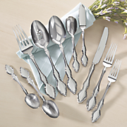 45 pc  cassina flatware set by oneida