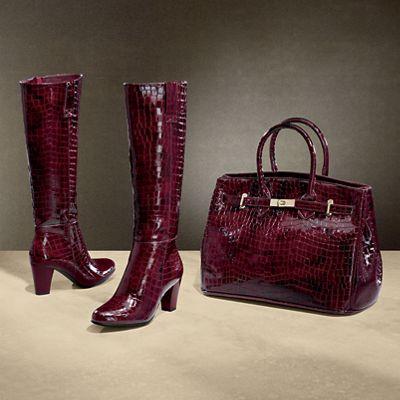 Mackenzie Croc Bag and Boot