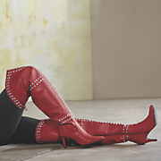 scarlet thigh high boot
