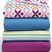 ventura solid and print microfiber sheet set