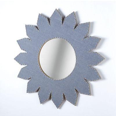 Blue Petal Mirror