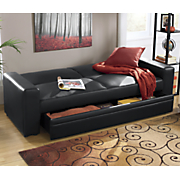 Convertible Sofa with Hidden Storage Drawer