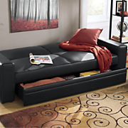 convertible sofa with hidden storage drawer