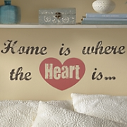 home is where the heart is wall words