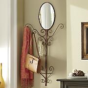 bronzetone coat tree mirror