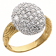 oval cluster cubic zirconia ring
