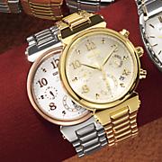 women s solar chrono round bracelet watch by seiko