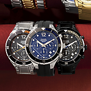 men s chrono round watch by pulsar