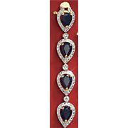 pear frame bracelet