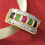 sapphire ruby emerald band