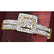 square cluster frame bridal set 21