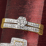 round cluster bridal set 167