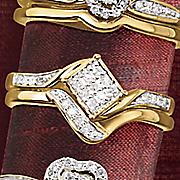 cluster bridal set