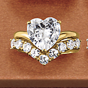 heart v band bridal set