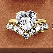 Heart V-Band Bridal Set