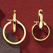 2 pair round hoop earring set