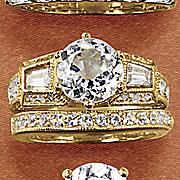 round baguette bridal set