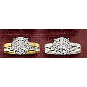 round cluster bridal set 2