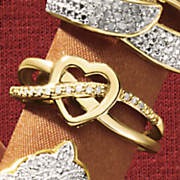 heart x ring