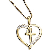 heart cross pendant