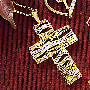 cross wrap pendant