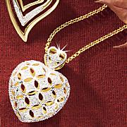 puff heart pendant