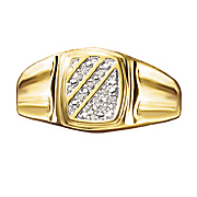 diagonal men s ring