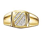 diagonal men s ring