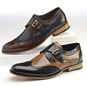 stratford monk strap shoe by stacy adams