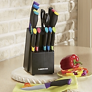 15-Piece Soft-Grip Color Cutlery Set by Farberware