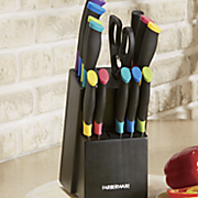 15 pc  soft grip color cutlery set by farberware