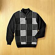 checkerboard sweater by steve harvey