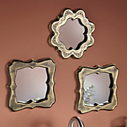 3-Piece Embossed Mirror Set