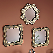 3 pc  embossed mirror set