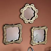 3 pc  embossed mirror set