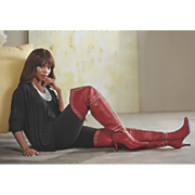 Natalya Top, Leggings and Scarlet Thigh High Boot