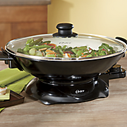 4 5 qt  electric  nonstick ceramic wok by oster