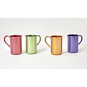 set of 4 aluminum mugs