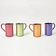 set of 4 aluminum mugs