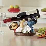 chef wine bottle holder 36