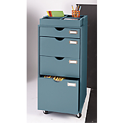 4-Drawer Rolling Filing Cabinet