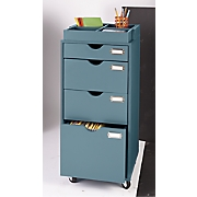 4-Drawer Rolling Filing Cabinet