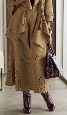 Saint-Tropex Faux-Suede Skirt