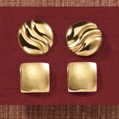 Geometric Post Earrings