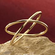 14k gold x ring